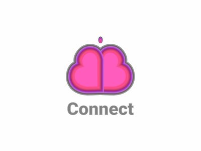 Connect pink colors twine happen hearts butterfly heart dating logo dating app connect dailychallenge logo vector dailylogochallenge dailylogo