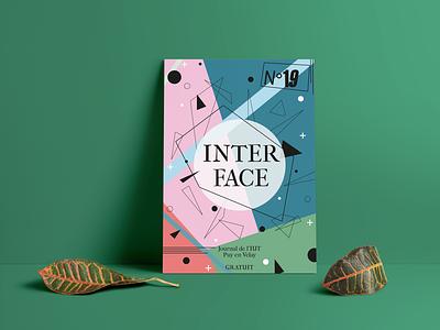 Couverture journal iut mmi - INTERFACE journal interface mmi branding graphic design illustrator graphique design design