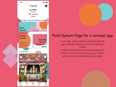 Point system for a concept app concept app point sysyem points