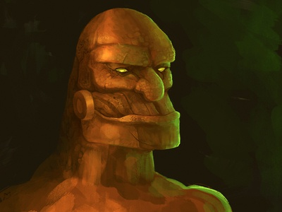 Bronze Golem Illustration