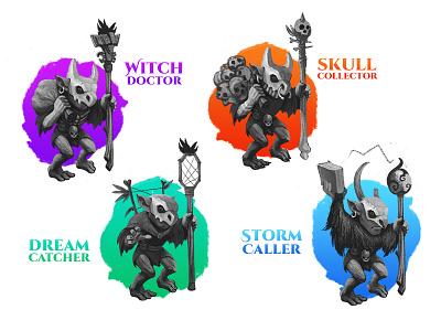 Goblin Fam orcs design games trolls rpg classes goblins
