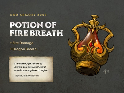 D&D Armory - 003: Potion of Fire Breath potion fantasy rpg dndarmory armory dnd