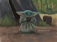 Baby Yoda Sketch illustration digitalart sketch starwars babyyoda