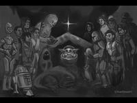 Baby Yoda is Born illustration wars star nativity baby baby yoda star wars yoda art sketch christmas starwars babyyoda
