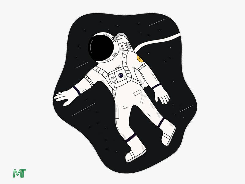 Astronauta astronaut vector illustration illustrator illustration art