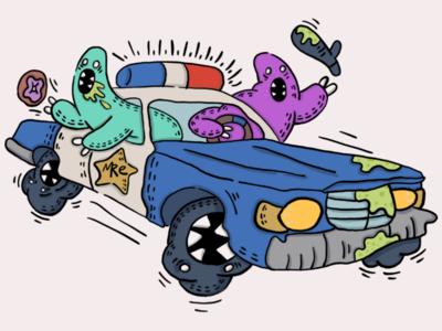 Eins, zwei, polizei.