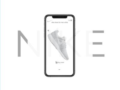 nike shop app logo typography website web ux ui illustration design branding