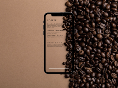 Coffee shop menu branding typography illustrator minimal icon app ux ui illustration design