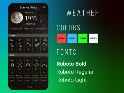 Weather tiempo clima experience user interface temperature service design inspiration trends ui ux uxui dailyui dailyui037 037 clearly moon app weather