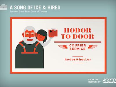 Hodor hodor business cards game of thrones internal fun