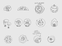 Logo sketches for NASA