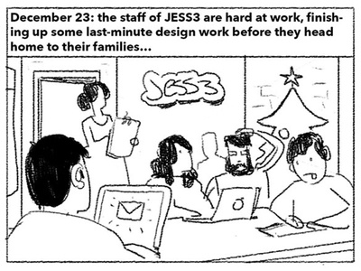 How JESS3 Saved Christmas christmas santa illustration sketch storyboard