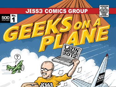 500 Startups Geeks on a Plane Zine jess3 500 startups comic book latin america illustration