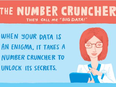 The Number Cruncher character design illustration jess3 workology mindjet social content