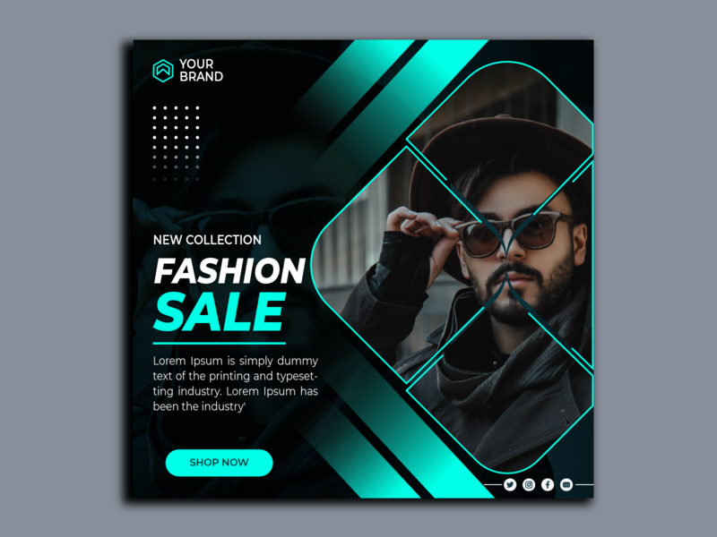 Social media post template/ Fashion fashion minimalist digital new best shopping facebook modern banner flyer instagram post network sale template social ad ads marketing social media banner social media template