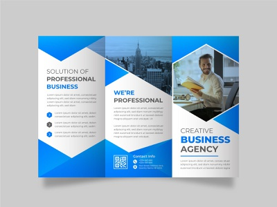 Business trifold brochure design template 2021 document business brochure cover design blue ready to print print cover page corporate identity trifold brochure brochure flyer corporate leaflet brochure layout flyer templates brochure template brochure mockup cover brochure design brochure