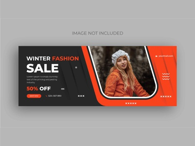 Winter fashion sale social media web banner design template shopping template business logo social media pack banner ads social website banners marketing instagram banner ad fashion banner design facebook winter sale banner