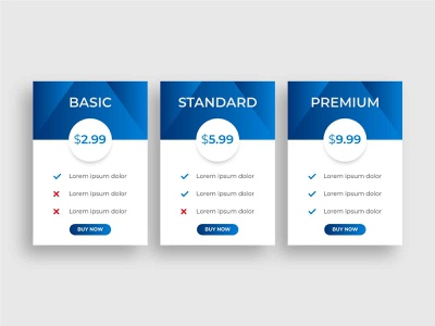 pricing table template design infographic elements basic subscription standard pricing sign up premium user service info price website infographic resume chart business banner infographics infographic design