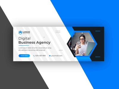 Digital business agency social media web banner design template facebook cover online service business agency offer banners graphicdesgn website social media post social media design ads facebook marketing social media instagram template flyer creative business banner