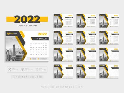 Desk calendar for 2022, clean and minimal desk calendar design desk calendar design banner flyer clean corporate creative minimal logo calendar wall calendar 2022 calendar desk calendar
