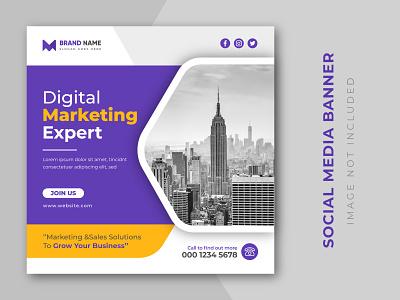 Digital marketing expert and corporate social media post design entrepreneur company