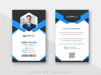 Office business id card with minimalist elements template. id id card customizable