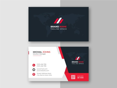 Creative Business Card Design Template. sample identity professional print photo multimedia modern id official- abstract flyer business template creative bueinss card graphic design branding