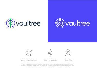 Vaultree_Logo simple design branding graphic design modern minimalist simple clean interface minimal clean logo
