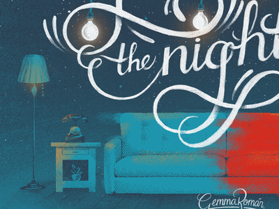 Are you gonna stay the night? lettering illustration song zedd corona capital hayley williams