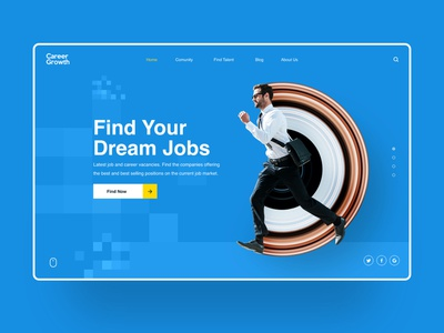 Career Growth professional jobs typography ux design finance web ui