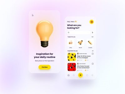 Inspired 3d icon agency illustration branding app ux design ui