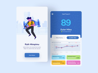 PahamApp learning app flat vector minimal illustration app typography ux design ui