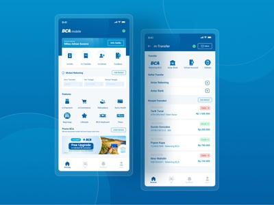 BCA New Mobile Banking Apps blue clean ui app typography ux design ui