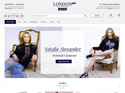 Ecommerce Web Design for MayFair ecommrce web design design web branding