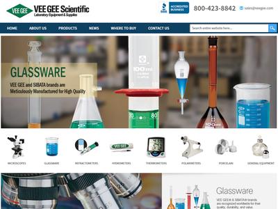 Ecommerce Web Design for VEE GEE Scientific ux design web branding ecommrce web design