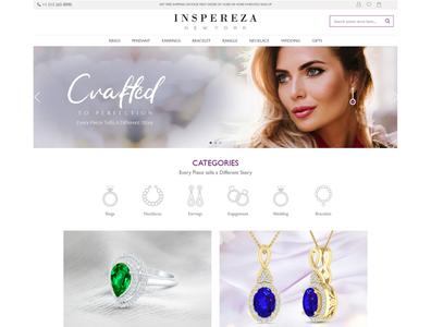 Ecommerce website design for Inspreza ux branding ecommrce web design web design