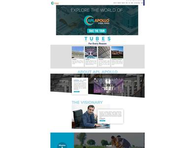 Corporate website design for Apl apolo corporate branding corporate design ux web design branding