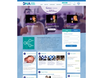 Corporate website design for Danone Nutricia Academy ux branding corporate design web design corporate branding