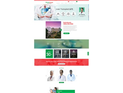 Corporate website design for Fortis Escorts corporate branding logo corporate design web design branding