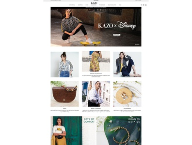 E-Commerce website design and development for kazo online store corporate design branding web design ecommrce web design ecommerce shop