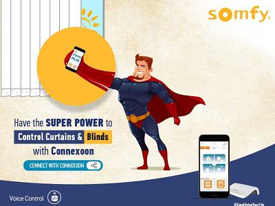 Social media post design for Somfy corporate branding branding