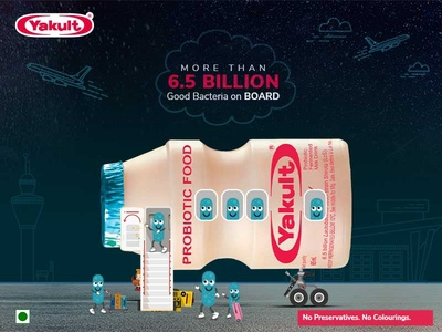 Social media post design for Yakult India corporate design corporate branding branding