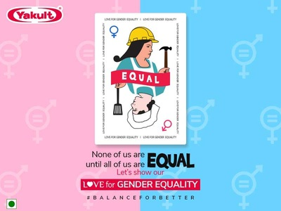 Women's Equality Day Social media post design for Yakult corporate branding branding