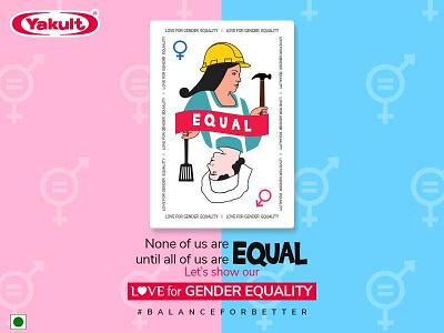 Women's Equality Day Social media post design for Yakult corporate branding branding