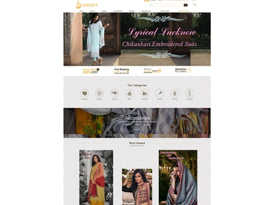 Kasturi - An Ecommerce website Design work ux design online store ecommrce web design web design branding