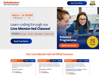 Robo Genius corporate design corporate branding web developer web design