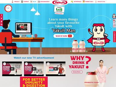 Yakult ecommrce web design web design ux corporate branding branding corporate design