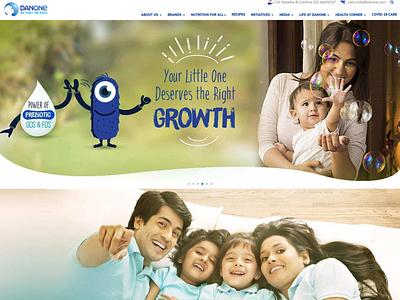 Danone India web design illustration design ux corporate design