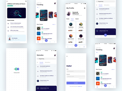 Podcaster IOS App branding visual design design ux ui
