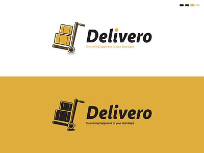 Delivero Logo brand identity design brand identity branding design logo company designer graphic vector cartoon delivery app delivery service delivery